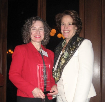 Stephanie Azzarone (left) with Women In Toys president, Patti Becker